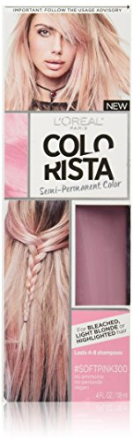 L'Oreal Paris L'Oréal Paris Colorista Semi-Permanent Hair Color for Light Bleached or Blondes, SoftPink
