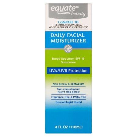 Equate Beauty - Equate Beauty Daily Facial Moisturizer Sunscreen Broad Spectrum, SPF 15, 4 Oz