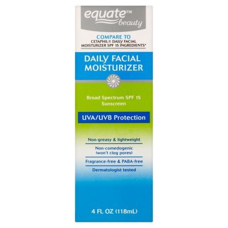 Equate Beauty - Equate Beauty Daily Facial Moisturizer Sunscreen Broad Spectrum, SPF 15, 4 Oz