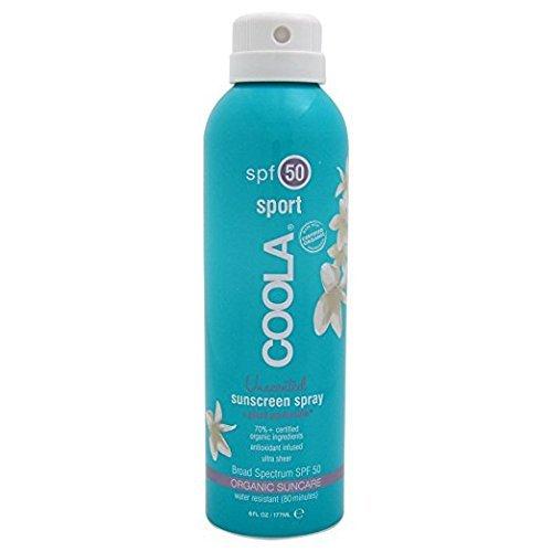 Coola Suncare - COOLA Organic Suncare, Eco-Lux Size, Unscented Sport Sunscreen Spray, SPF 50, 8 fl. Ounce