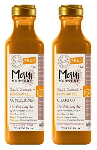 Maui Moisture - Maui Moisture Curl Quench & Coconut Oil Shampoo & Conditioner Set 19.5 Ounce