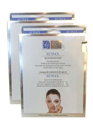 Global Beauty Care - Global Beauty Care - 4 per-pk Retinol Spa Treatment Masks (2 pack)