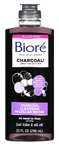Kao-Biore Biore Charcoal Cleanser Micellar Water 10 Ounce (296ml) (3 Pack)
