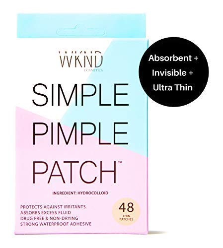 WKND Cosmetics SIMPLE PIMPLE PATCH - Hydrocolloid Acne & Blemish Patches | Quick Invisible On the Go Natural Breakout Treatment | Stress & Mess Free Dot Covers for Zits & Whiteheads | Discreetly Absorbs Gunk & Oil