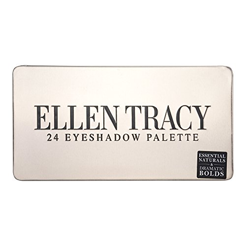 Ellen Tracy - Ellen Tracy 24-Well Eye Shadow Palette in Tin Box, Essential Naturals & Dramatic Bolds