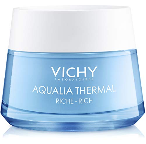 Vichy - Vichy Aqualia Thermal Rich Cream Moisturizer for Dry Skin with Hyaluronic Acid, 97% Natural Origin Ingredients, 1.69 Fl. Oz.