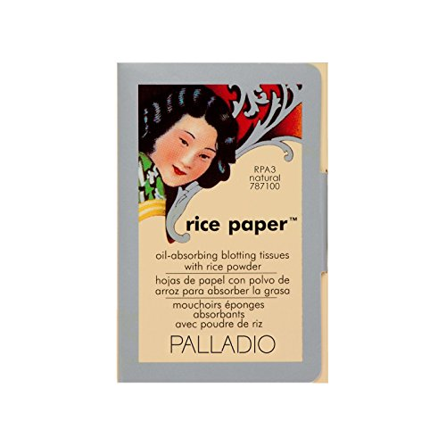 Palladio Palladio Rice Paper Tissue, Natural, Face Blotting Sheets with Natural Rice Powder Absorbs Oil and Helps Skin Stay Looking Fresh and Smooth, Compact Size for Purse or Travel
