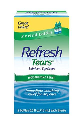 Refresh Tears - Refresh Tears Lubricant Eye Drops, 2 Bottles 0.5 fl oz ,15mL each Sterile ,30mL