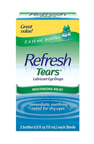Refresh Tears - Refresh Tears Lubricant Eye Drops, 2 Bottles 0.5 fl oz ,15mL each Sterile ,30mL