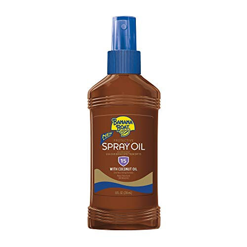 Banana Boat - Banana Boat Sunscreen Protective Tanning Oil Broad Spectrum Sun Care Sunscreen Spray - SPF 15, 8 Ounce (Pack of 3)