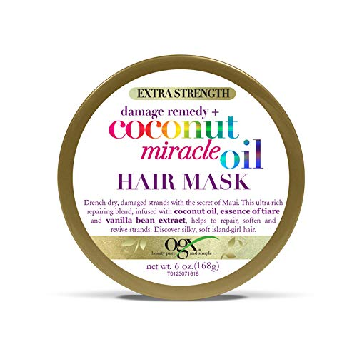OGX - OGX Extra Strength Damage Remedy + Coconut Miracle Oil Hair Mask, No Parabens, 6 oz