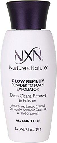 Nurture by Nature - NxN Glow Remedy Powder-to-Foam Exfoliator Face Scrub Natural & Organic Formula for All Skin Types, 2.1 Oz