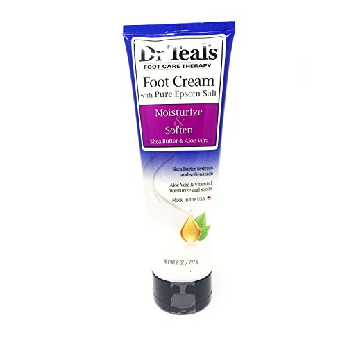 Dr. Teal's - Dr Teal's Shea Enriched Foot Cream, 8 Oz. (Pack of 2)