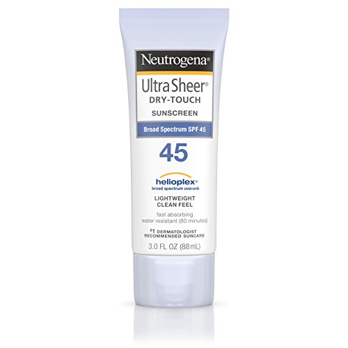 Neutrogena - Neutrogena Ultra Sheer Dry-Touch Water Resistant and Non-Greasy Sunscreen Lotion with Broad Spectrum SPF 45, 3 fl. Oz (Pack of 3)