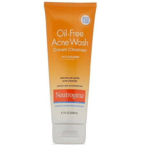 Neutrogena - Neutrogena Oil-Free Acne Wash Cream Cleanser, 6.7 Ounce (200 ml)