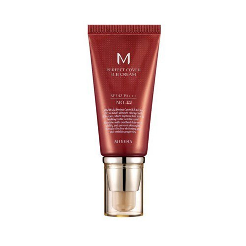 Missha - M Perfect Cover BB Cream SPF 42 PA+++ #13 Bright Beige