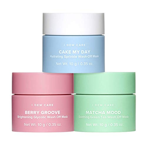 I DEW CARE New I Dew Care Mini Scoop Wash-Off Face Mask Trio! Cake My Day Nourishing Sprinkles, Matcha Mood Soothing Green Tea & Berry Groovy Antioxidant Rich Raspberry!