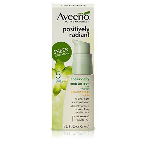 Aveeno - Positively Radiant Sheer Daily Moisturizing Lotion, SPF 30