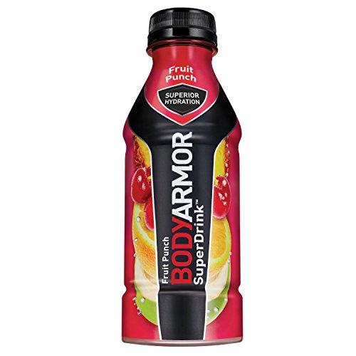 BODYARMOR SuperDrinks - BODYARMOR SuperDrink Sports Beverage, Fruit Punch, 16 Fl Oz (Pack of 12), Natural Flavors With Vitamins, Potassium-Packed Electrolytes, No Preservatives, Perfect For Athletes