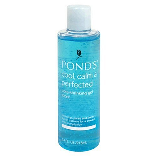 PONDS FACE - Pond's Calm, Cool & Perfected Pore-Shrinking Gel Toner With Aloe & Bamboo Extract, 7.4 Fl Oz (218 Ml)