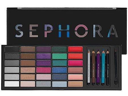 SEPHORA - Sephora Artist Color Box Limited-Edition 24 Eye shadows, 6 Lip Glosses, 5 Eye Pencils Makeup Palette $145.00 Value, NEW!