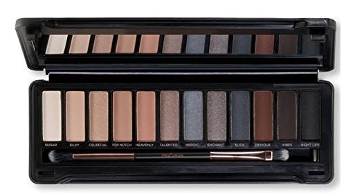 Profusion Cosmetics - 12 Shade Eyeshadow Pro Makeup Case, Smoky Eyes