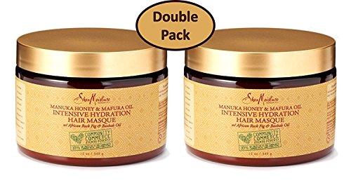 Shea Moisture - Shea Moisture Manuka Honey & Mafura Oil Intensive Hydration Hair Masque, with African Rock Fig & Baobab Oil, 12 Ounce - Value Double Pack - Qty of 2 each