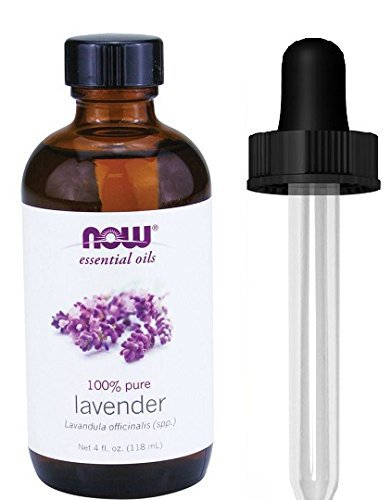 NOW Foods Lavender Oil, 4 oz, From NOW (4 OZ + Glass Dropper)