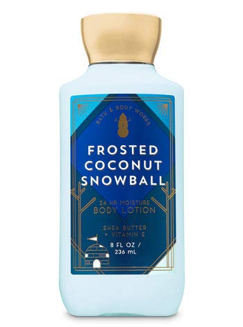 null - Bath and Body Works Frosted Coconut Snowball Body Lotion 8 Ounce Full Size