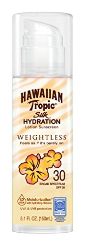 Hawaiian Tropic - Hawaiian Tropic Silk Hydration Weightless Sun Care Sunscreen Lotion SPF 30, 5.1 Ounce