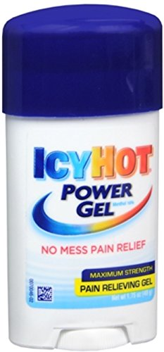 Icy Hot - Icy Hot Power Gel 1.75-Ounce (Pack of 4) Temporarily Relieves Minor Pain Associated with Arthritis, Simple Backache, Muscle Strains, Sprains, Bruises, and Cramps