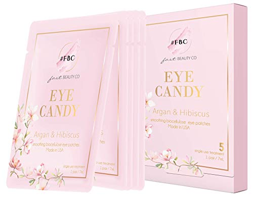 Fast Beauty Co. - Fast Beauty Co. Eye Candy! 5 Pairs Smoothing Biocellulose Eye Patches With Argan & Hibiscus