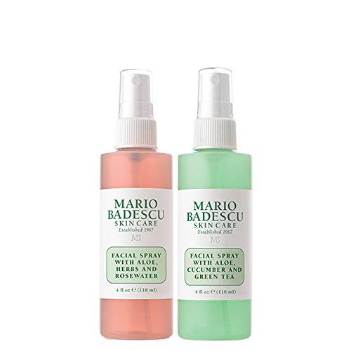 Mario Badescu Facial Spray with Rosewater & Green Tea Duo