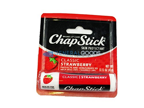 Chapstick - ChapStick Lip Balm Strawberry 0.15 oz (Pack of 12)