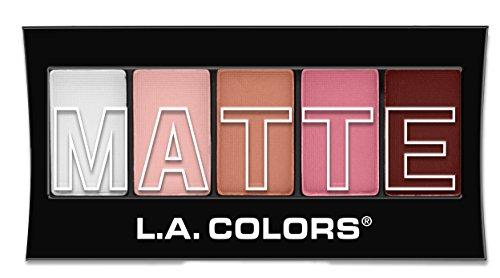 L.A. COLORS - L.A. Colors 5 Color Matte Eyeshadow, Pink Chiffon, 0.08 Ounce