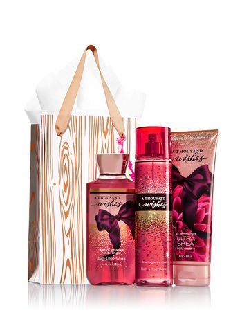Bath & Body Works - A Thousand Wishes Rose Gold & Natural Gift Kit