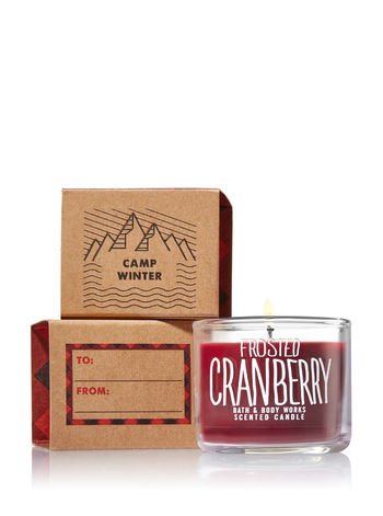 Bath & Body Works - Mini Candle Frosted Cranberry