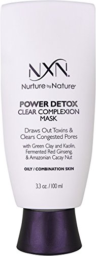 Nurture by Nature - NxN Power Detox Clear Complexion Face Mask Detoxifying Clay Formula Natural Formula for Oily/Combination Skin, 3.3 Fl Oz