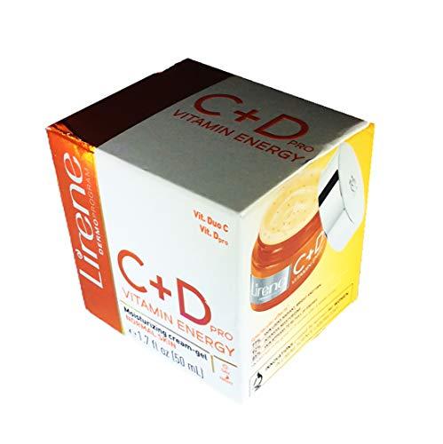 Lirene - Lirene C + D Vitamin Energy PRO. Moisturizing cream-gel. Normal Skin. Day/Night. 1.7 FL OZ