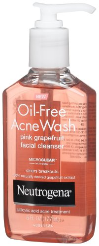 Neutrogena - Oil-Free Acne Wash Facial Cleanser, Pink Grapefruit