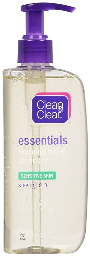 Clean & Clear Clean & Clear Essentials Foaming Facial Cleanser Sensitive Skin, 8 Ounce (Pack of 2)