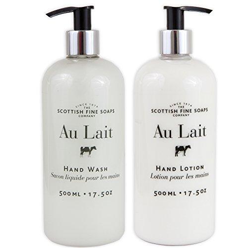 Au Lait - Au Lait Milk Soap Hand Wash + Hand Lotion Set, LARGE 17.5 Ounce