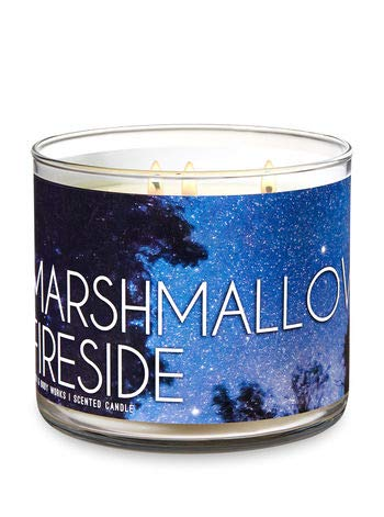 Bath & Body Works - Bath and Body Works 3-Wick Scented Candle Marshmallow Fireside 14.5 Ounce