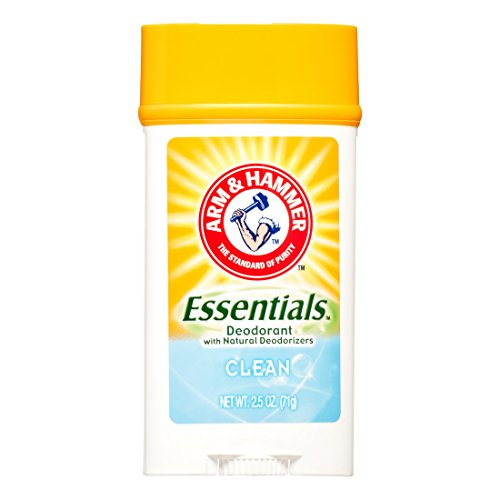 Arm & Hammer - ARM & HAMMER Essentials Solid Deodorant, Clean, Wide Stick, 2.5 oz. (Pack of 3)