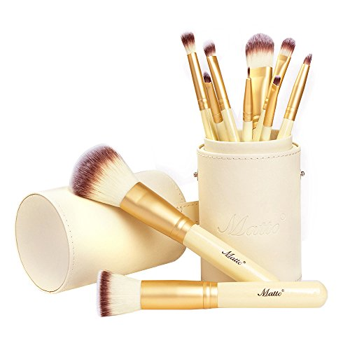 Matto 10-Piece Golden Makeup Brush Set