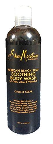 Shea Moisture - Shea Moisture African Black Soap Soothing Body Wash, Calm & Clear, 13 oz Each (Pack of 7)