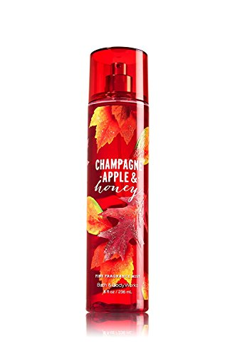 Bath & Body Works - Bath and Body Works Champagne Apple and Honey 8 Ounce Fragrance Mist Fall 2016 Tall Slender Red Bottle