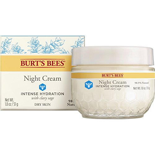 Burt's Bees - Burt's Bees Intense Hydration Night Cream, Moisturizing Night Lotion, 1.8 Ounces
