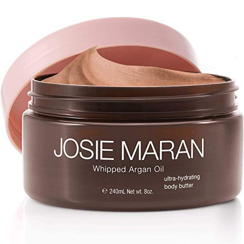 Josie Maran - Josie Maran Whipped Argan Oil Illuminizing Body Butter - Restores Skin Softness and Improves Skin Texture - Light Bronze Shimmer (240ml/8oz, Vanilla Peach)