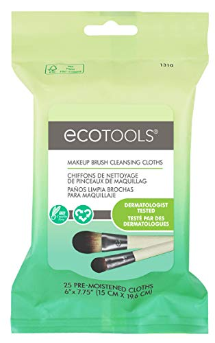 EcoTools Ecotools Makeup Brush Cleansing Cloths, 0.46 Ounce